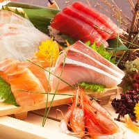 【 鮮 魚 】 新鮮なお刺身と厳選された清酒がベストマッチ!