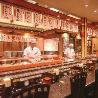 回転寿司だけどご注文ください。 熟練の職人の握りを味わって!