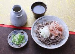 福井県産そばの風味の良い本格八割そば