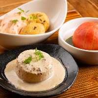 【ビストロおでん】焼き大根のポルチーニ茸クリームソース