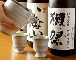 料理を引き立てる日本酒を全国各地から全15種類厳選しました!