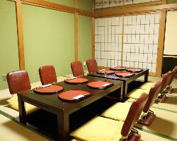 掘りごたつの個室をご用意。ゆったりとお食事をお楽しみ下さい。