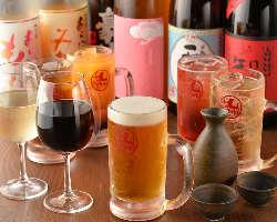 [ドリンク充実] 日本酒・焼酎・ワインなど、肉に合わせて厳選