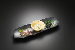富山の珍味、県内産食材のお料理ございます