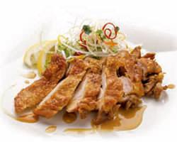 鶏もも肉のカリカリ揚げ 香味ソース