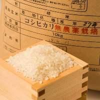 〈新潟県産コシヒカリ〉 農薬不使用栽培の米!香りと甘みは格別