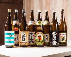 〈新潟の地酒〉 県内南北を渡り多彩な地酒を取り揃えております