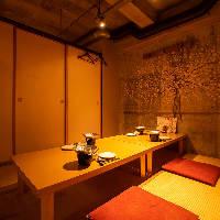 【完全個室】 周りを気にせず過ごせる個室は少人数宴会にも最適
