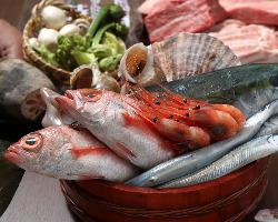 近江町市場の厳選魚介をご用意!