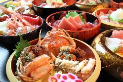伝統と味を受け継ぐ味。 能登の海の幸をご堪能ください。