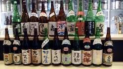 常時、富山全20蔵100種の日本酒をご用意しております