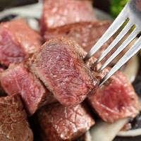 【絶品肉】 自慢のステーキは部位とグラムを選んでオーダー