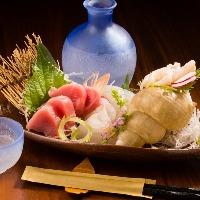 お刺身は旬の魚を一番おいしいタイミングで調理!お酒との相性◎