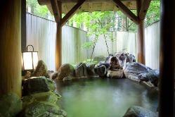 常に贅沢にかけ流す自慢の天然温泉。日帰りプランもございます。
