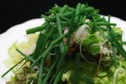 葉ねぎとレタスで仕上げたあっさりサラダ『コッチョリ』。