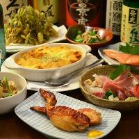 宴会コースは2000円(税込)~ボリュームたっぷりです!