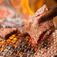 極上のお肉を炭火でジューシーに焼き上げる!