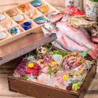 日本海で獲れた「のどぐろ」や「ぶり」など石川の地魚をどうぞ。