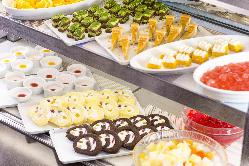 デザートも豊富に取り揃えております。
