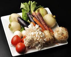 全国各地から集めたこだわりの野菜をご提供致します!