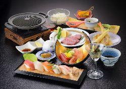 女性に人気!お寿司がついた「おもてなし御膳」