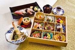 《会席料理》 新鮮・旬の食材をふんだんに使った会席料理が人気