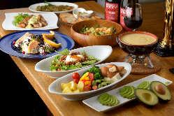 人気のアボカド料理が盛りだくさんの「スタンダードコース」