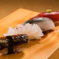 【寿司】 厳選した新鮮な旬のネタを店主が真心込めて握ります。