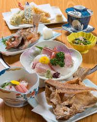 """""""全3種のコース"""" 店主おすすめの海鮮料理をご堪能ください"""