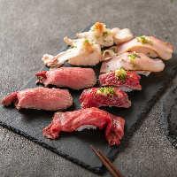 当店の肉寿司は絶品!是非一度ご賞味頂きたい逸品です!