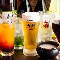 【多彩なドリンク】 日本酒焼酎・梅酒など種類豊富なのが魅力