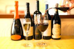 ワインのラインナップ豊富でお料理との相性も抜群◎
