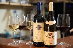 ワインも豊富に取りそろえ。バーとしてもお使いいただけます。