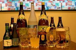 ビール、カクテル、ワインなど、種類豊富なドリンク♪