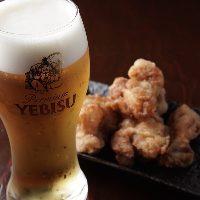 ビールと唐揚げがベストマッチ!
