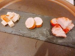 スキレットで地物ナスのチーズ焼き