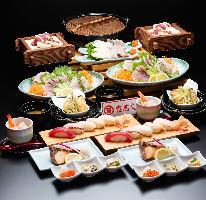 豪華に寿司宴会をご提供いたします。
