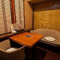 【寛ぎの個室】 デートに人気の少人数個室に掘りごたつ宴会個室
