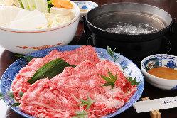 秋冬のおすすめは『鍋』。とろけるような和牛の美味しさを堪能