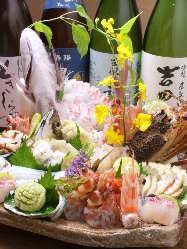瀬戸内海の天然地魚 とれとれピチピチの地魚を味わえる。