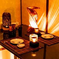 「藩」の空間を象徴するような、和の趣あふれる竹製のシンボル