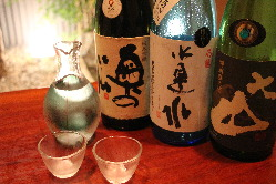 おすすめ、愛媛の地酒も多数ご用意。