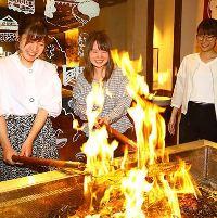 藁焼き体験ができる梅野店!食の真髄をお楽しみください