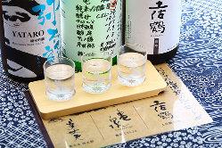 厳選の高知県産地酒は美味しい料理と共に!飲み比べをご用意♪