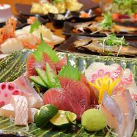海の近くだがらこそ味わえる新鮮な魚を使った料理の数々に舌鼓