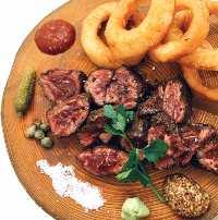 お肉料理はこれ!牛ハラミの石焼ステーキ!