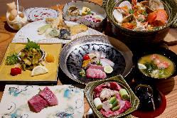 旬の食材を贅沢に味わえるコースや接待向けの会席コースもご用意