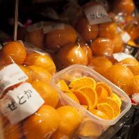 地域の特産品の柑橘類☆ ご試食も用意しています♪
