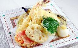 季節の旬野菜を使用した天婦羅はおすすめの一品です