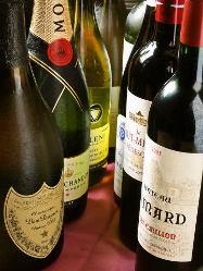 ワインも充実!厳選肉とのマリアージュをお楽しみください